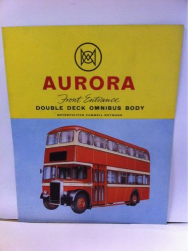 MCW Aurora Bus body manufacturer brochure