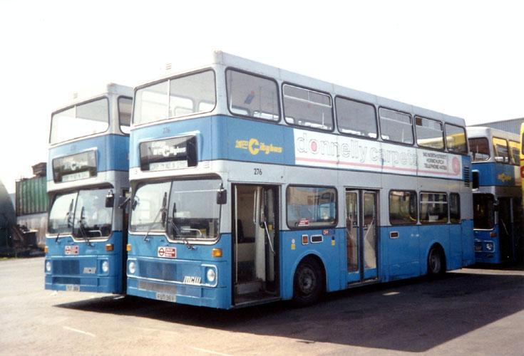 MCW Metrobus buses 276 (FUT36V) and FUT38V
