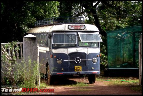 Mercedes Benz bus which was used by St. Xavier's college - Goa a
