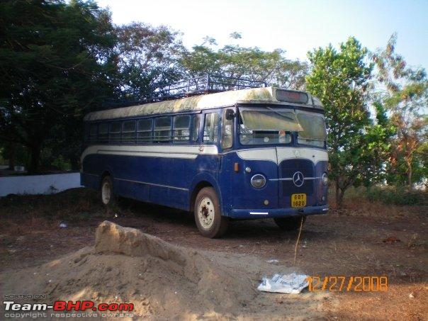 Mercedes Benz bus which was used by St. Xavier's college - Goa