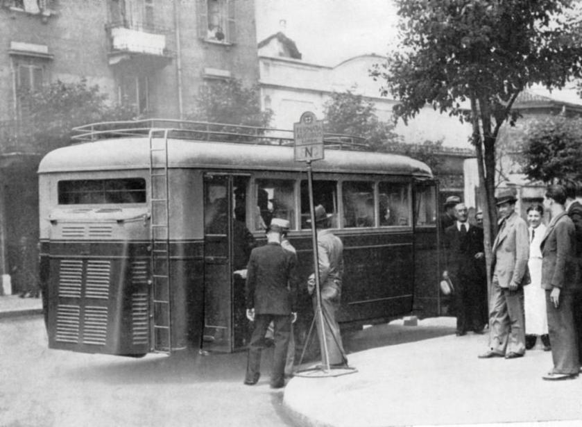 minerva anni 40 con autobus sperimentale