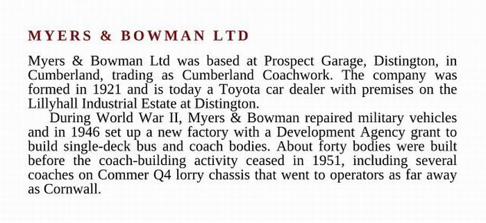 Myers & Bowman Ltd.