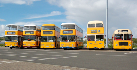 Northern MCW Metrobus C 771 OCN A line up of six former Tyneside buses