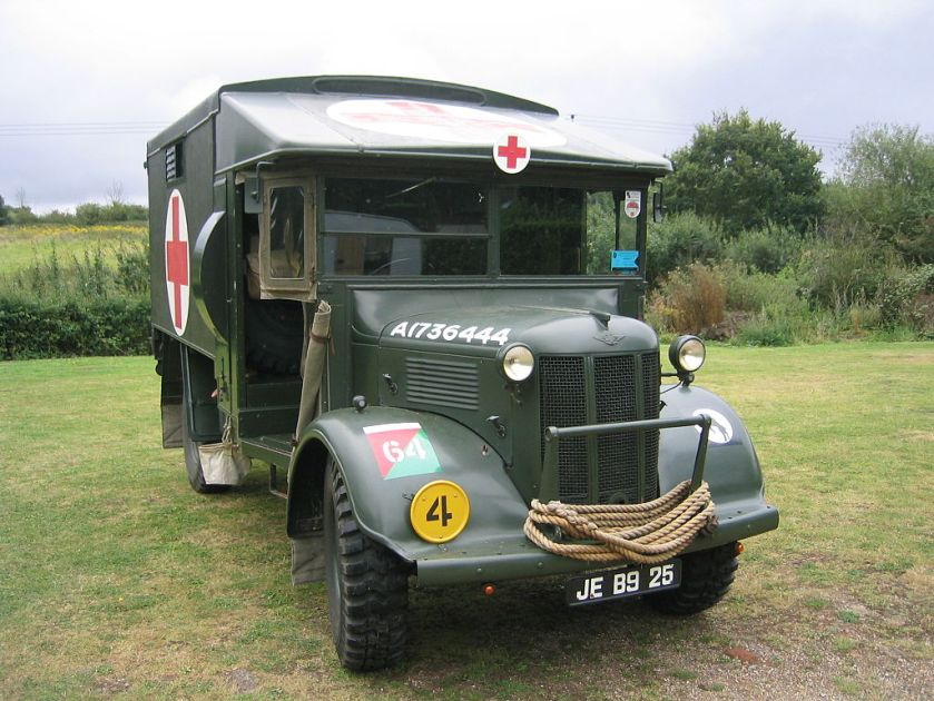 restored Austin K2-Y ambulance