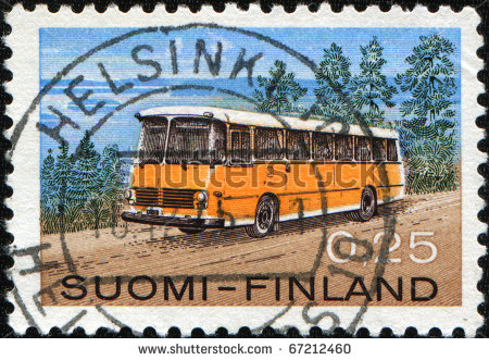 stock-photo-finland-circa-a-stamp-printed-in-finland-shows-retro-passenger-bus-circa-67212460
