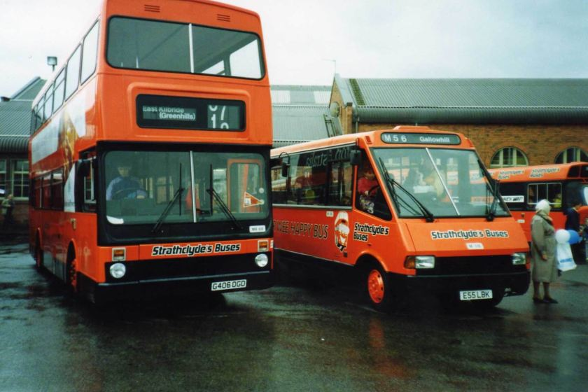 Strathclyde Buses MCW Metrobus MB68 G406OGD and MCW Metrorider M115 E55LBK (MYC1974)