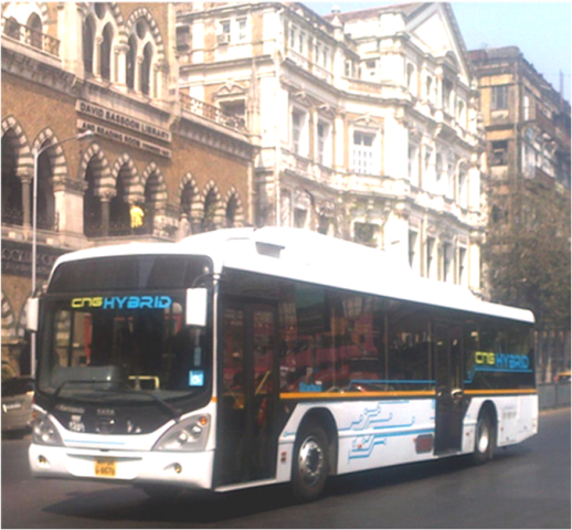 Tata Marcopolo CNG Hybrid bus in Mumbai