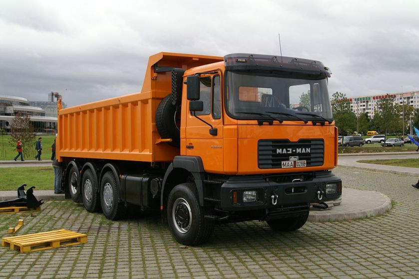 tipper, with the MAN F90 cab
