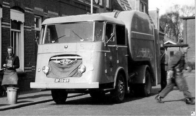 van Twist diesel Vuilniswagen RF-35-69 Nijmegen 1958