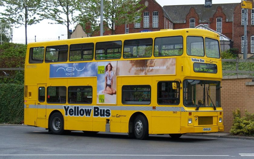 03 2009 Volvo Olympian Northern Counties Palatine I no grille R549 LGH Yellow Bus