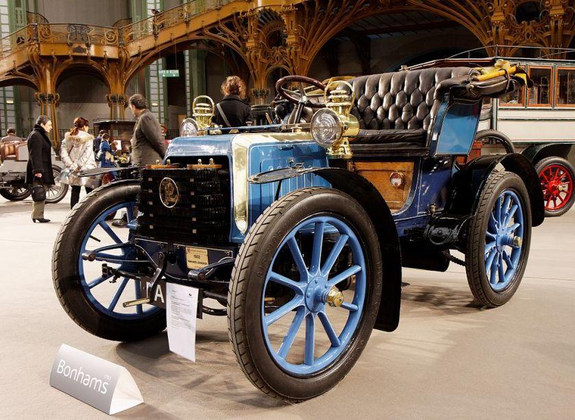 1902 Panhard et Levassor 7 CV bicylindre Voiturette par Clément-Rothschild