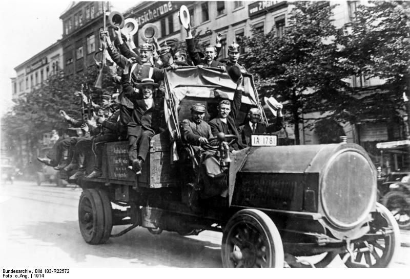 1914 NAG-Lkw (Bj. 1913, 45 PS) in Berlin während der Mobilmachung