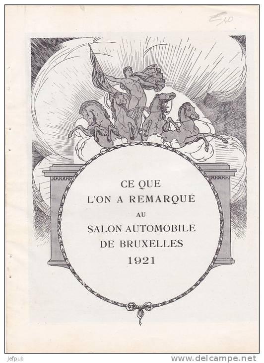 1921 Autosalon de Bruxelles