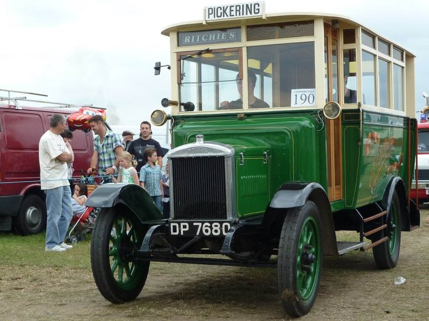 1926 Morris Commercial T-2 DP7680 10-seater Bus