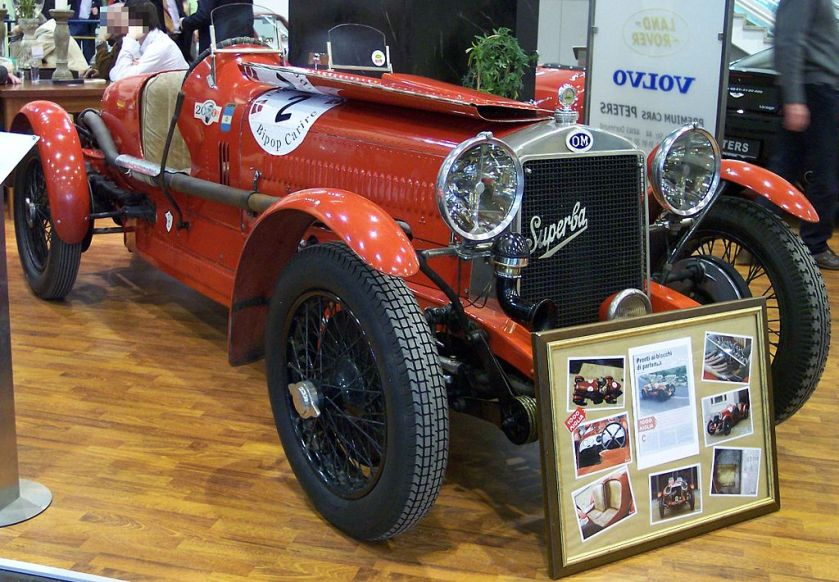 1929 OM Superba 665 orange vr TCE