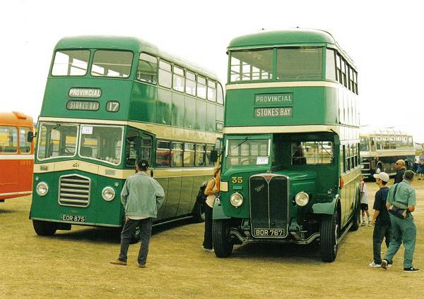 1936 AEC Regent with Park Royal H30-26R.