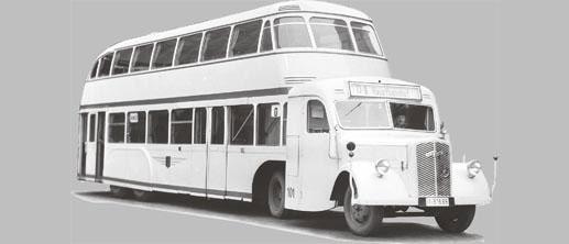 1938 OPEL-Blitz 3,5 Doppelstockbus-Sattelzug