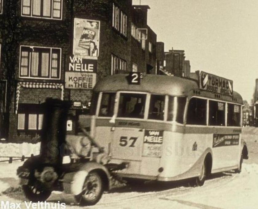 1938 Opel Blitzbus 37 woodgas-dolly-snow