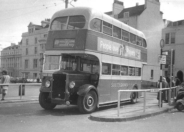1939 Leyland Titan TD5, originally with Park Royal 52 seat body, was rebodied by Northern Counties after the war