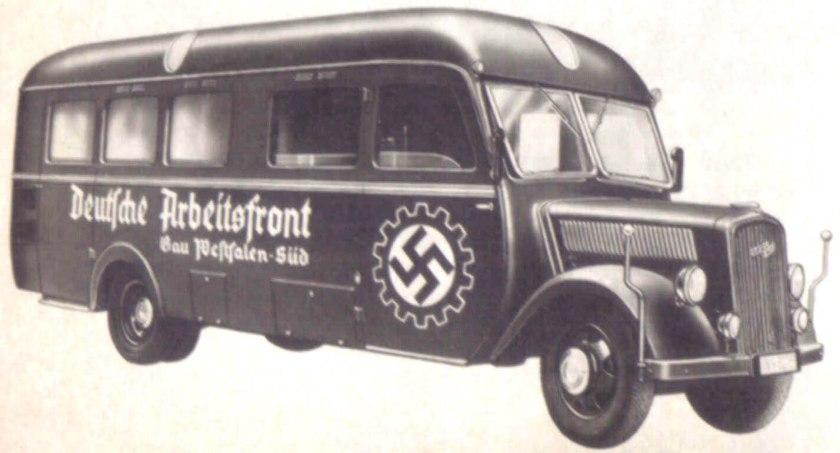 1939 Opel Blitzbus 82 deutsche-arbeiterfront-werkstatt