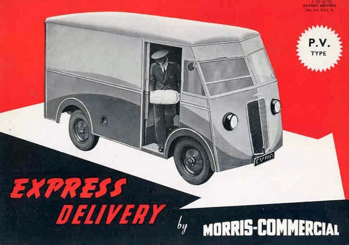 1946 Morris Commercial type PV advert