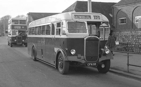 1949 Dennis J3 Lancet with a Park Royal B35R body
