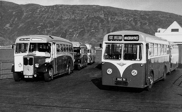 1949 Maudslay Marathon III with Park Royal body, and KGG711 was an AEC Regal IV with Roe body of 1953