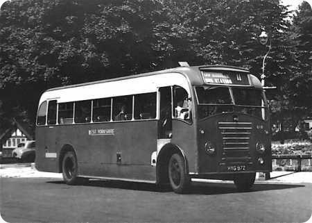 1949 Morris Commercial Beadle bus HYG-972