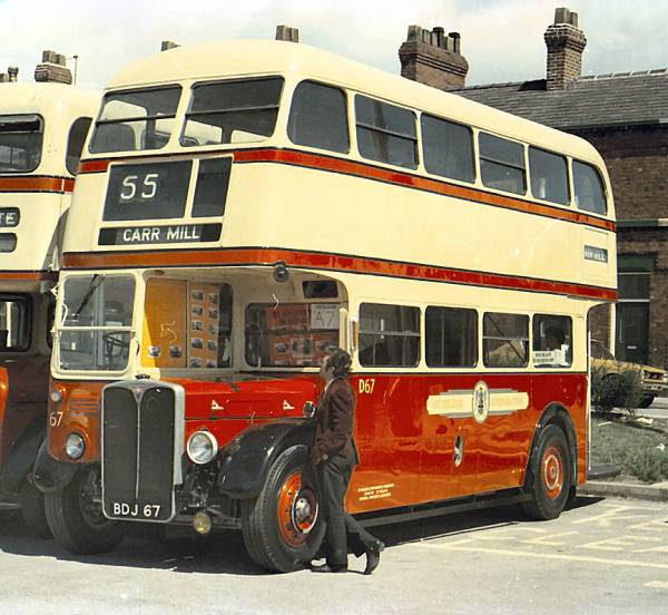 1950 AEC Regent 3RT with Park Royal H30-26R body