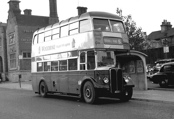 1950 AEC Regent III with Park Royal H30-26R body