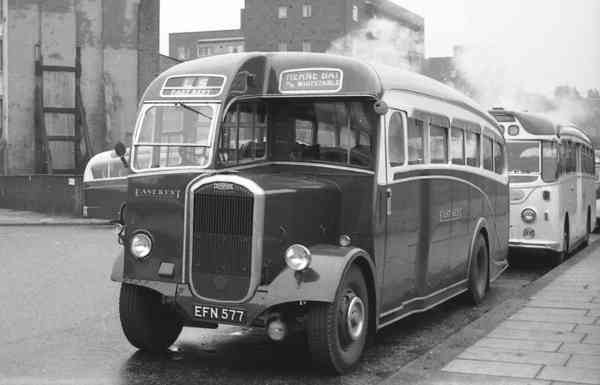 1950 Dennis J3 Lancet EFN577 with a Park Royal C32F body