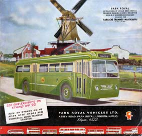 1950 Park Royal Vehicles LTD Ad