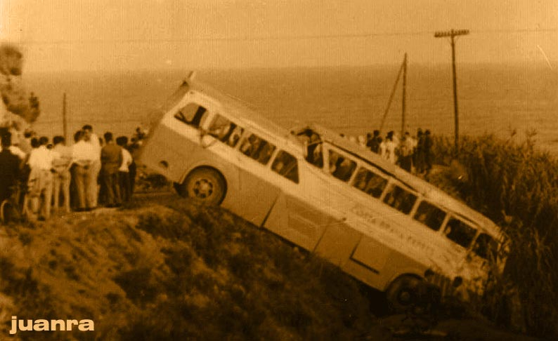 1951 Pegaso Monocasco accidentado el Costa Brava Expres