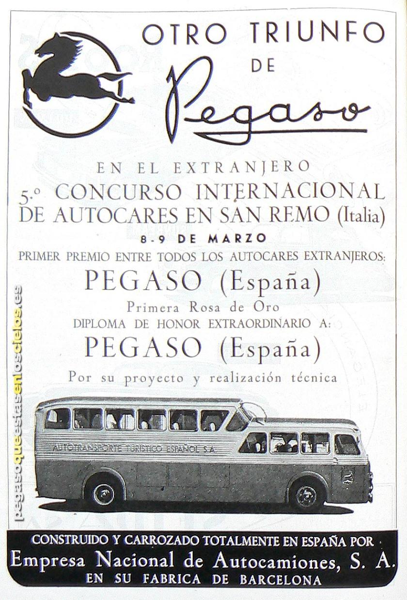 1951 Pegaso Monocasco El Pegasín de los Autocares a