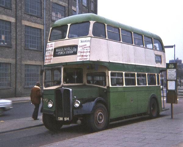 1954 AEC Regent III with a Park Royal body