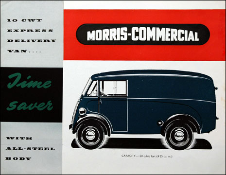 1954 Morris Commercial 10 CWT Express Delivery Van 12 page part-color folder original