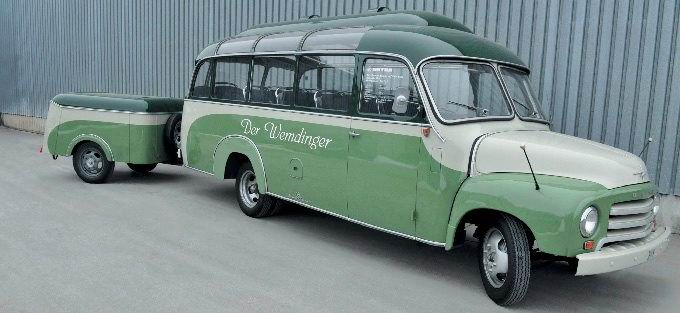 1954 Opel Blitz Super Mit Anhänger
