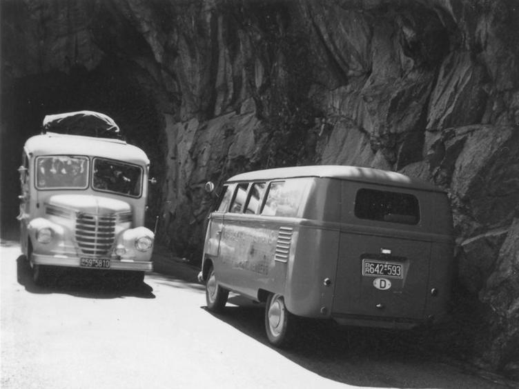 1954 Opel Blitz Wagen 114. in Süddeutschland unterwegs