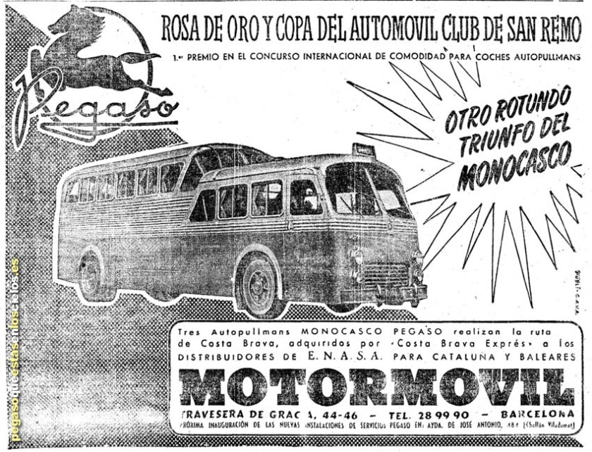 1954 Pegaso Monogasco Ad 3 vanguardia