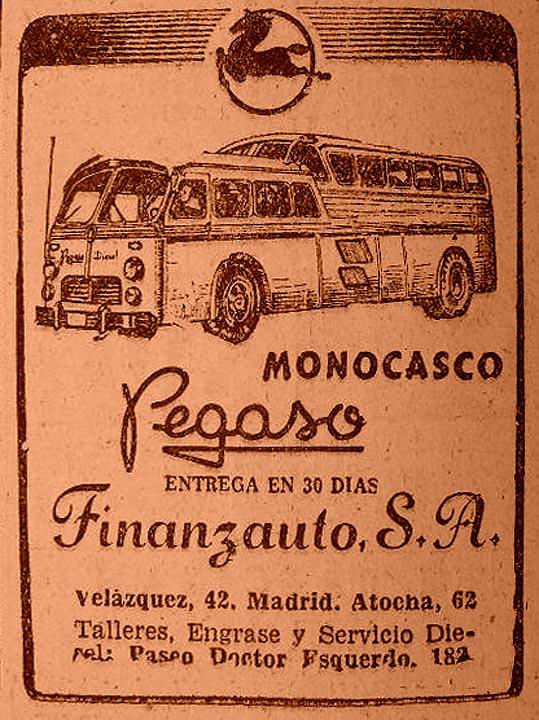 1954 Pegaso Monogasco Ad