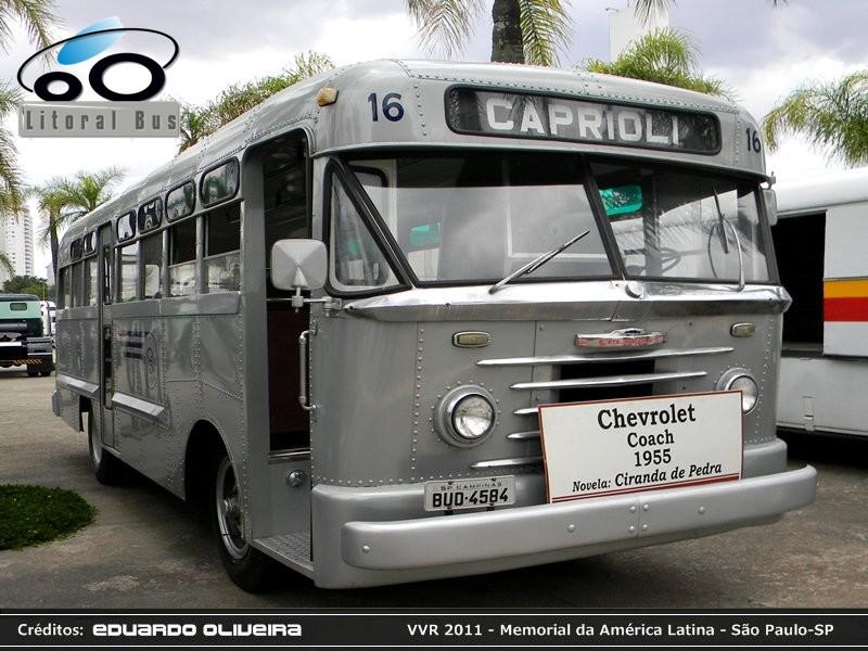 1955 Nielson Diplomata 350 Plataforma Mercedes Benz O-371RS. Viação Caprioli 16 Chevrolet Coach GMC Gasolina