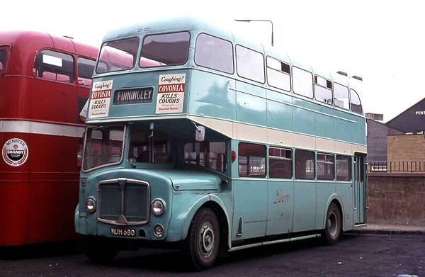 1956 A.E.C. LD2RA Regent V as Western Welsh 680 with a Park Royal CO41-32RD body