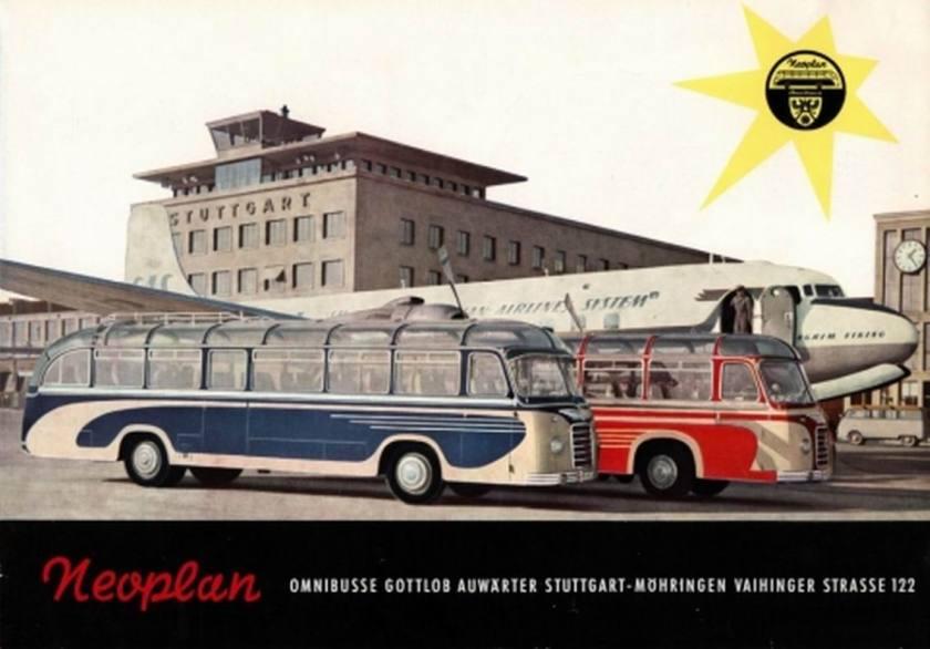 1957 Auwärter Neoplan Omnubus Prospekt 1957