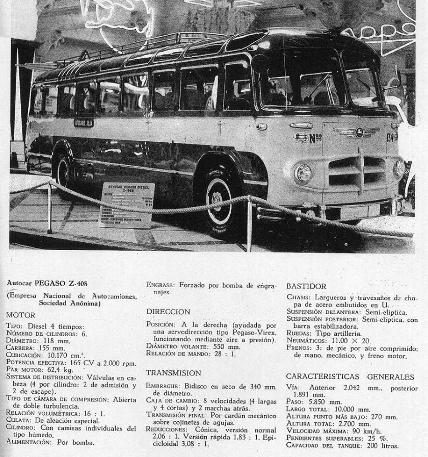 1958 Pegaso Z 408 165cv