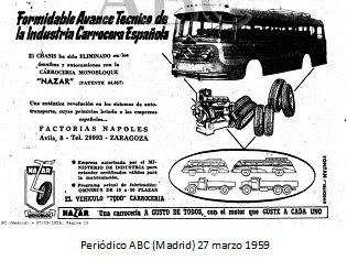 1959, se proyecto el camion Nazar cuya fabricacio dio inicio en 1960.