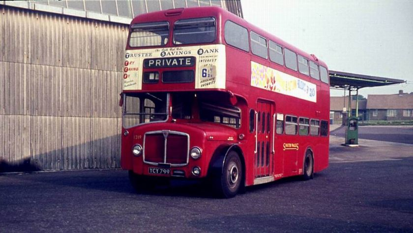 1961 AEC Bridgemaster 1219 with Park Royal H43 29F Body