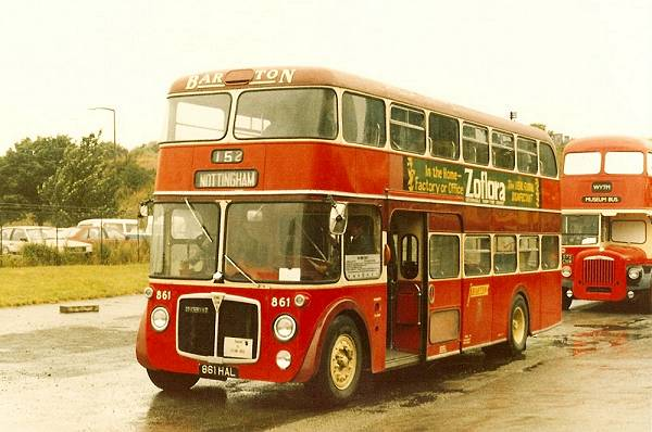 1961 Dennis Loline II with lowbridge fully fronted Northern Counties bodywork