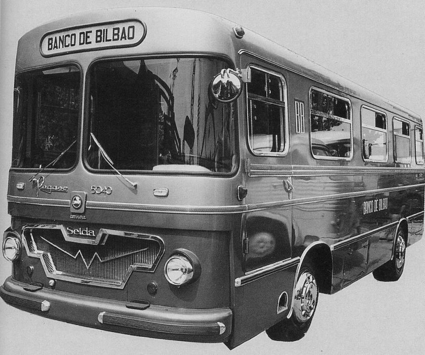 1961 Pegaso 5040 omnibus chassis bodied by Seida as a mobile bank office