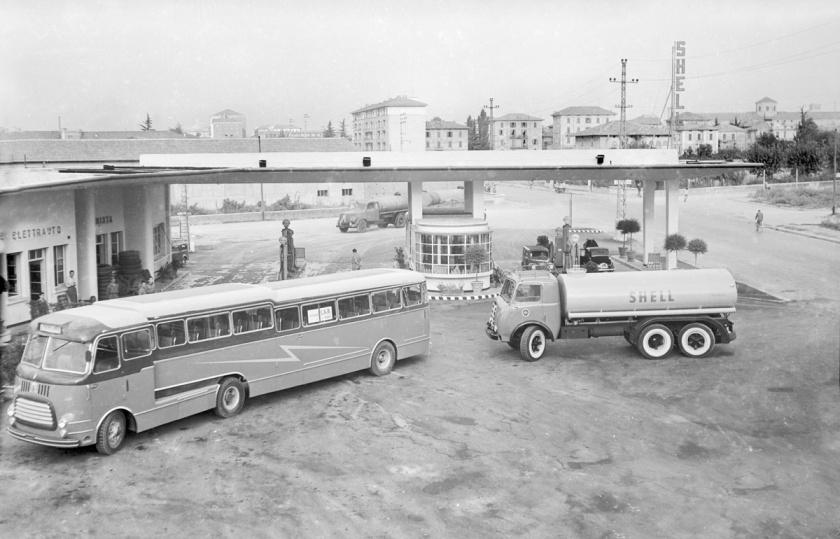 1962 Semirimorchio Orlandi Astore con motrice Fiat anni '60