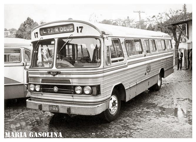 1963 Ônibus Nicola. Carroceria Nicola-Mercedez no ano de 1963